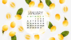 January 2020 computer wallpaper