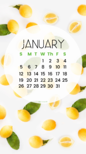 January 2020 phone wallpaper